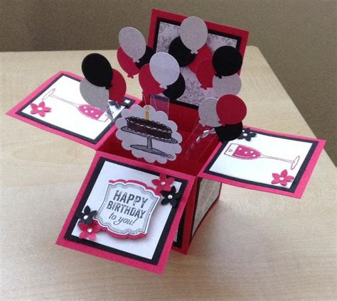Handmade Card Box - handmade card in a box unique birthday by induscraftcreations
