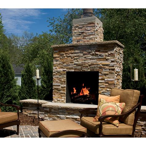 36 in firerock masonry outdoor wood burning fireplace