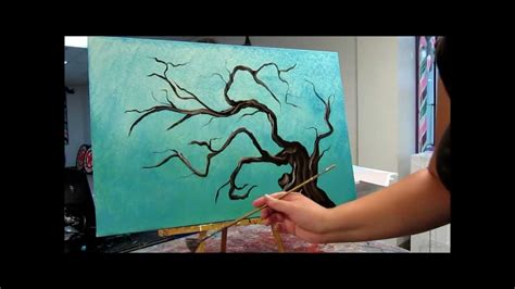 Sunset Wall Mural how to paint tree branches youtube