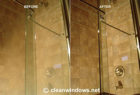 Brite And Clean Windows Shower Door Cleaning And Water Water Stains Glass Shower Door