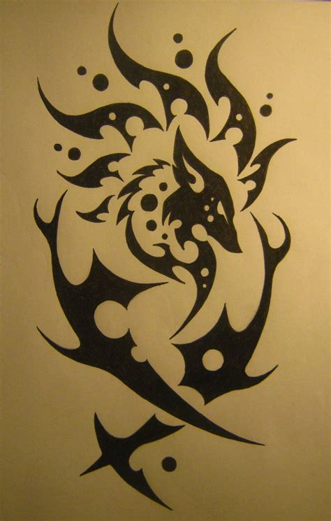 fox tribal tattoo tribal fox design with even more added to it by