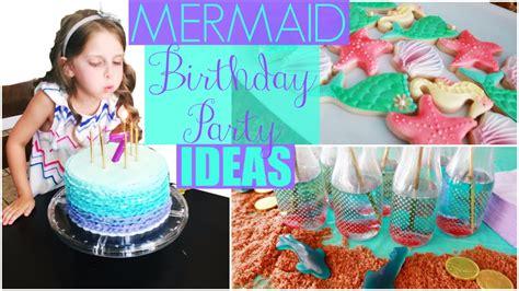 Mermaid Birthday Party Ideas: Decorations, Cake, DIY & Games!   YouTube