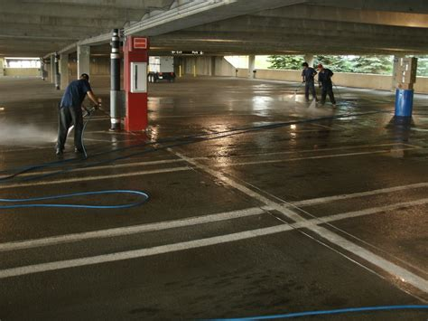 Power Wash Garage by Parking Garage Cleaning Using A Hose New Added