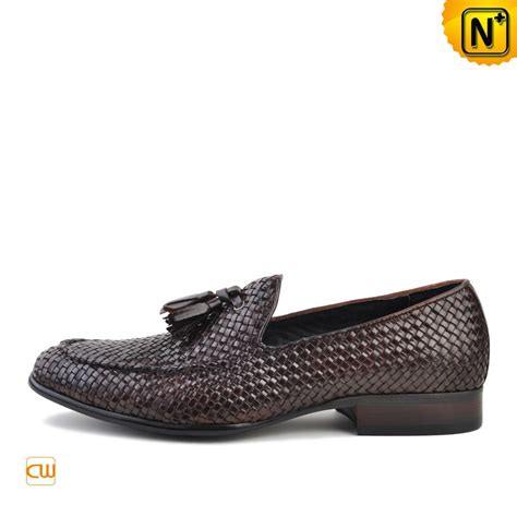 mens woven leather loafers mens woven leather tassel loafers cw750058