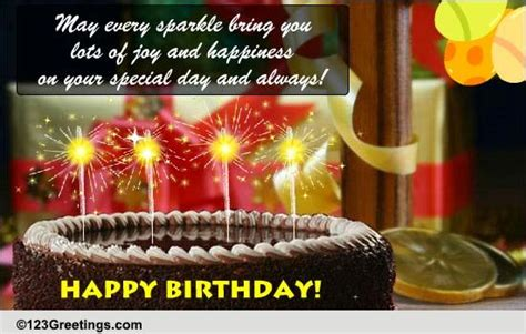 sparkling birthday greeting  happy birthday ecards