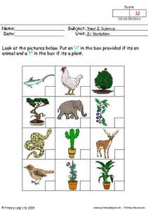 primaryleap co uk animal or plant 1 worksheet
