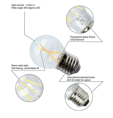 Led Light Bulb Lifespan Lifespan Ceramic G45 Filament Led Bulb 2w 4w E14 E27 Led Light Bulb Buy Ceramic G45