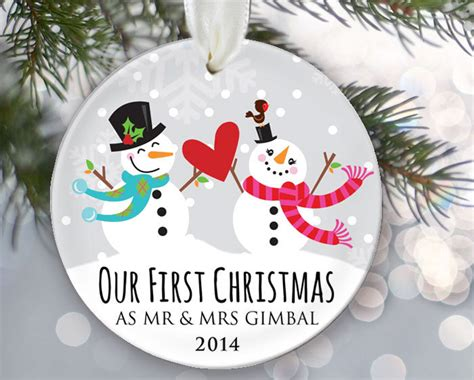 our first christmas as mr mrs personalized christmas