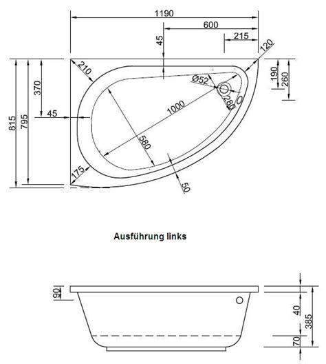 raumspar badewanne 120 kleinste raumsparwanne 120 x 81 5 cm asymmetrische