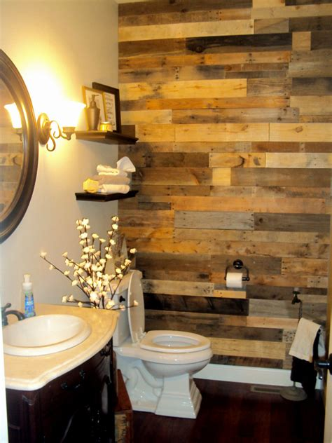 pallet wall bathroom pallet wood accent wall sustainable lumber company