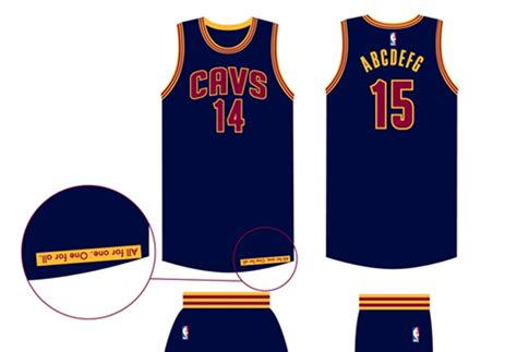 nba jersey design editor clevelandalt for the win