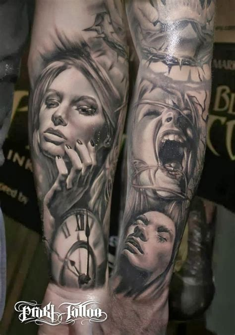 portrait sleeve tattoo designs great vine pictures tattooimages biz