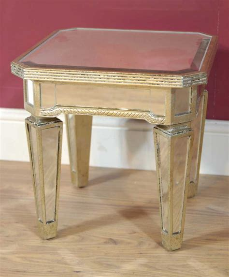 mirrored side table pair mirrored coffee side tables table mirror furniture