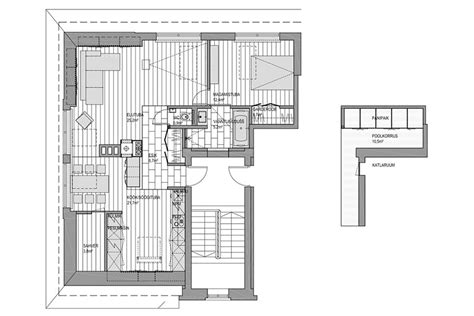 peeking white house floor plan ayanahouse go black or white in these two sloped ceiling apartments