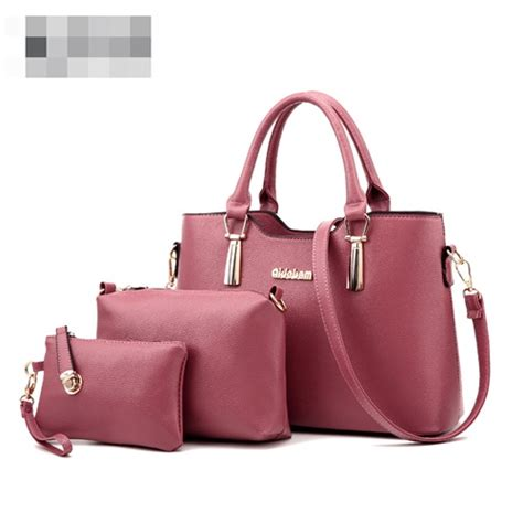 Tas Fashion Import 3in1 Black jual b7660 darkpink tas import set 3in1 grosirimpor