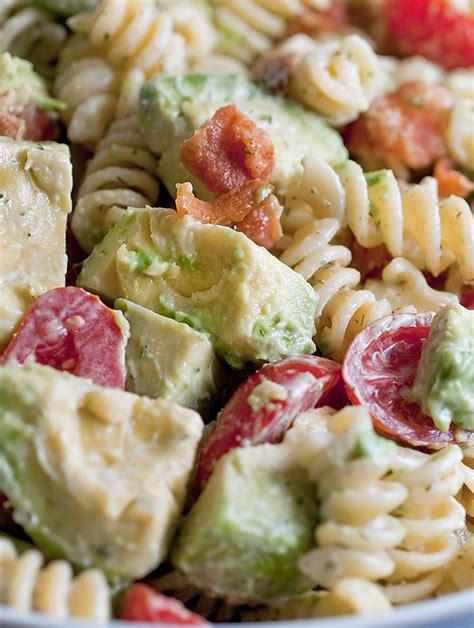 Recipe For Creamy Bacon Tomato And Avocado Pasta Salad   recipe for creamy bacon tomato and avocado pasta salad