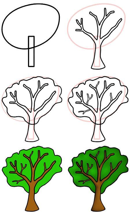 simple drawing tree simple drawing lesson simple tree misc