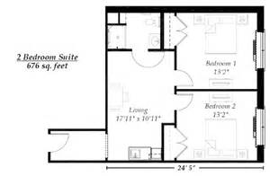 simple floor plan with 2 bedrooms