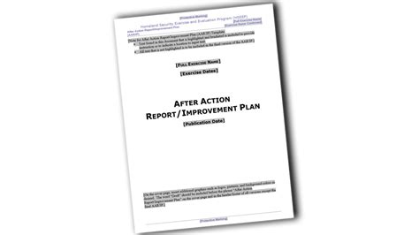 Aar Briefformat After Report Improvement Plan Template Abstract