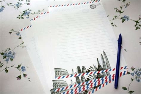 airmail writing paper european air mail writing paper stationery post