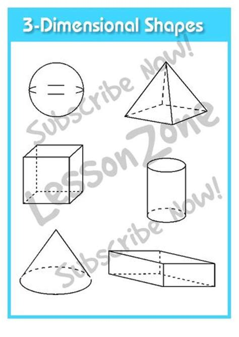 3 dimensional cube template lesson zone au shape