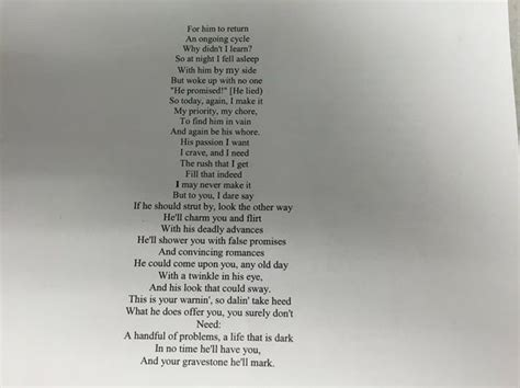 heroin haunting poem by late gifted highlighted