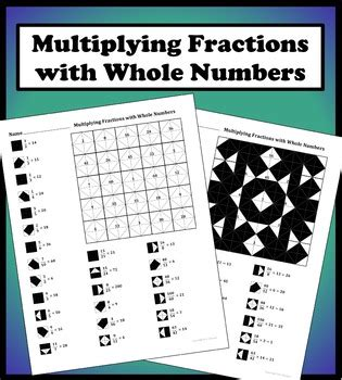 Multiplying Fractions With Whole Numbers Worksheets by Multiplying Fractions With Whole Numbers Color Worksheet