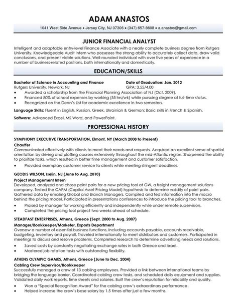 resume exles for recent college graduates recent graduate resume sle best resume collection