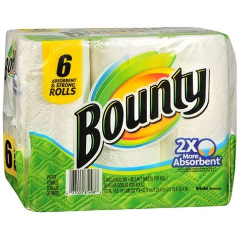 What Makes Paper Towels Strong - bounty absorbent and strong paper towels rolls 6 rolls