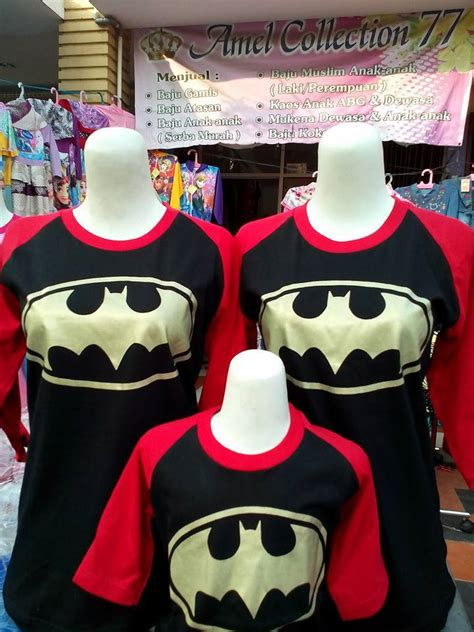 Murah Kaos Baju Superheroes Batman Gold Spandex katalog kaos anak karakter kaos anak karakter