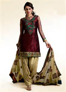 Indian Wardrobe by Black Shalwar Kameez Designs India Clothing For