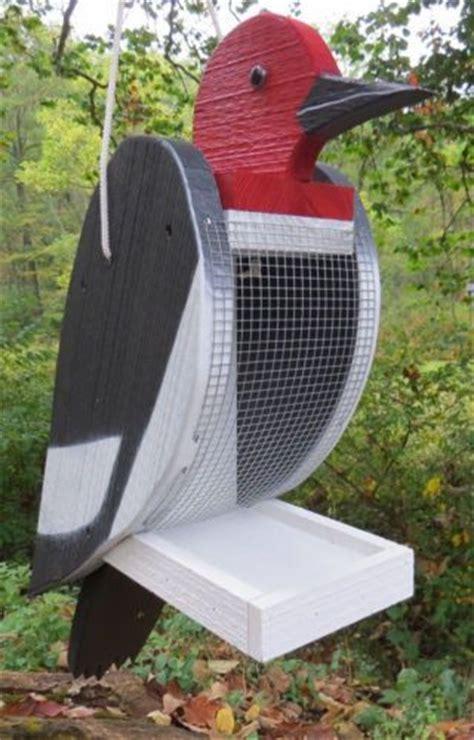 downy hairy woodpecker bird feeder large handmade