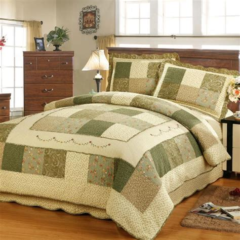 Quilted Bedspreads Size by 2015 New 3pcs Patchwork Cotton Bedding Set King Size