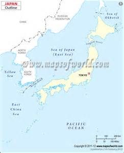 Outline Map Of China Korea And Japan by Blank Map Of Japan Japan Outline Map