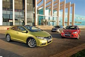 honda focus honda civic vs focus and golf pictures auto express