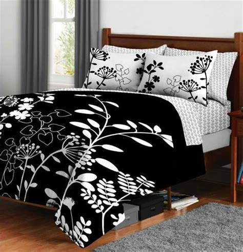 black and white floral bedding reason to choose white comforters trina turk bedding