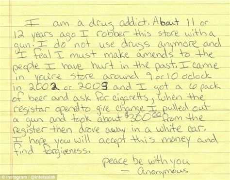 up letter to addiction ex addict sends apology note and 400 to interasian