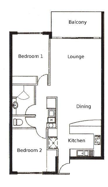 floor plan of a two bedroom flat 2 bedroom apartment floor plan palm cove tropic