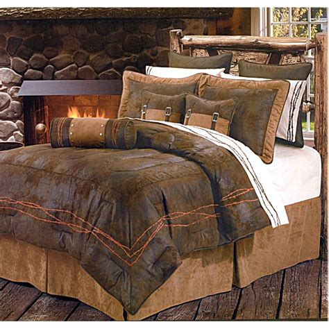 western bedspreads comforter sets ranch barbwire chocolate western bedding comforter set