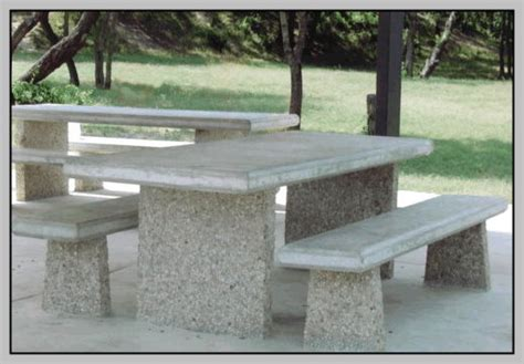 precast benches 10 tables benches with exposed aggregate legs