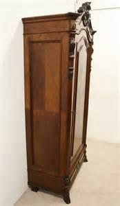 continental walnut single door armoire wardrobe antiques