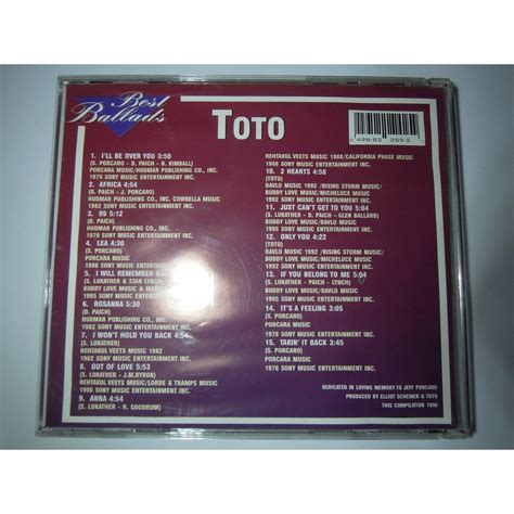 Cd Toto Best Ballads By Club best ballads by toto cd with pitouille ref 118076828