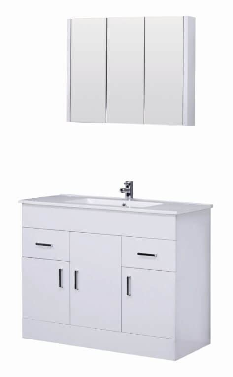 1000mm Vanity Units Turin White Gloss Bathroom Furniture Gloss White Bathroom Furniture