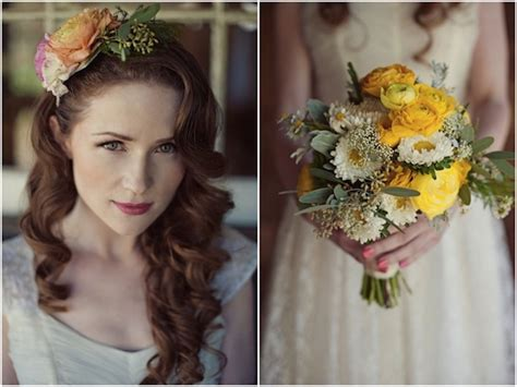 Vintage Wedding Hair Ideas by Vintage Wedding Dress Floral Accessory Inspiration