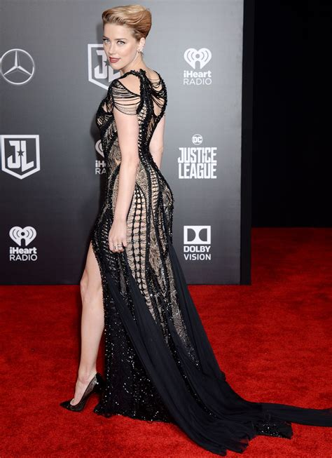 amber heard justice league red carpet  los angeles
