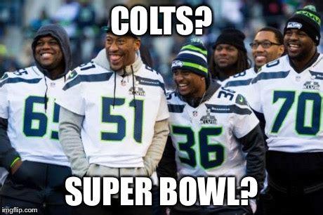 Seahawks Super Bowl Meme - laughing seattle seahawks imgflip