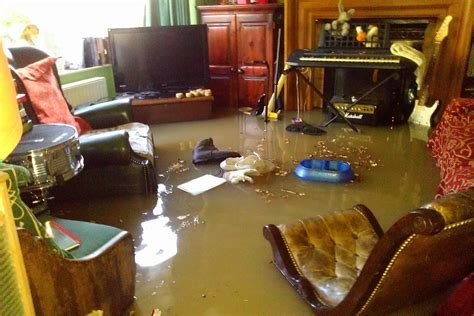 Inside the flood house: Greenford couple's home is wrecked