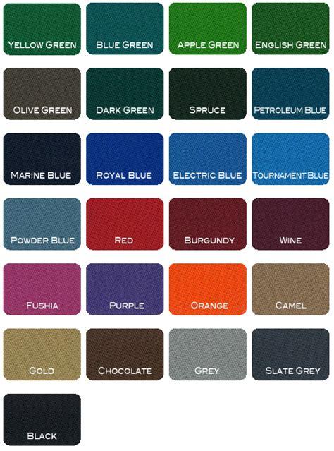pool table felt colors simonis pool table cloth kinneybilliards