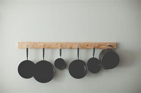 Simple Pot Rack Simple Awesome Pot Rack A 2x4 And Some