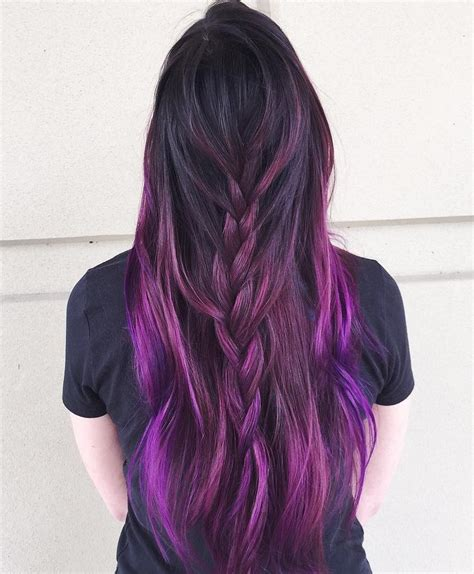 dye bottom hair tips still in style 40 versatile ideas of purple highlights for blonde brown